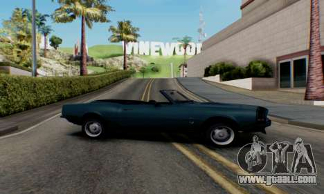 Chevrolet 369 Camaro SS for GTA San Andreas left view
