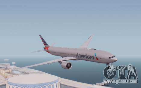 Boeing 777-300ER ANA JA755A - Gundam for GTA San Andreas back left view