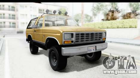 Ford Bronco 1980 Roof IVF for GTA San Andreas back left view