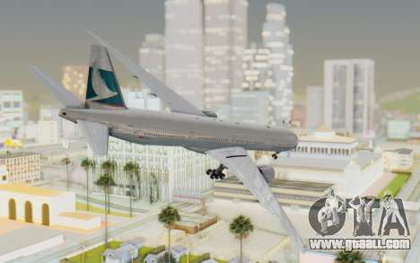 Boeing 777-300ER Cathay Pacific Airways v1 for GTA San Andreas left view