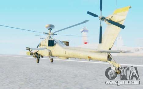 AH-64 Apache Marines for GTA San Andreas back left view