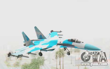 SU-37 American Ornament for GTA San Andreas back left view