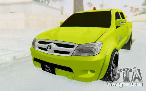 Toyota Hilux Malaysia Airports Green for GTA San Andreas