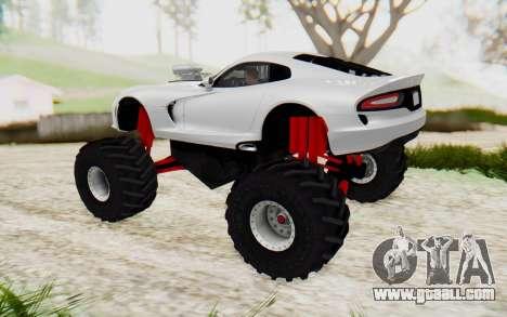 Dodge Viper SRT GTS 2012 Monster Truck for GTA San Andreas left view