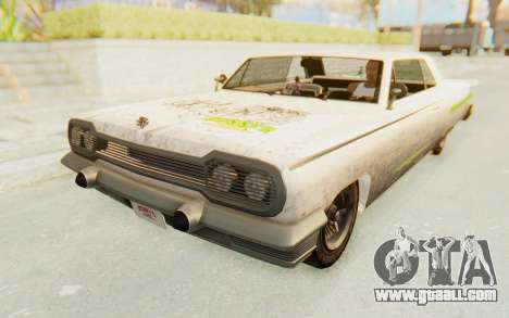 GTA 5 Declasse Voodoo Alternative v2 PJ for GTA San Andreas upper view