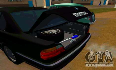 BMW 740i E38 for GTA San Andreas upper view