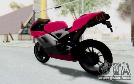 Ducati 1098R High Modification for GTA San Andreas left view