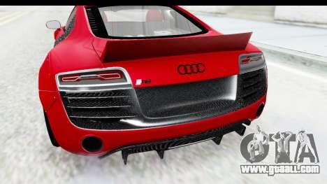 Audi R8 5.2 V10 Plus LB Walk for GTA San Andreas back view