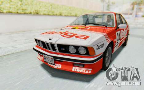 BMW M635 CSi (E24) 1984 HQLM PJ2 for GTA San Andreas bottom view