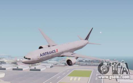 Boeing 777-300ER France Air for GTA San Andreas back left view