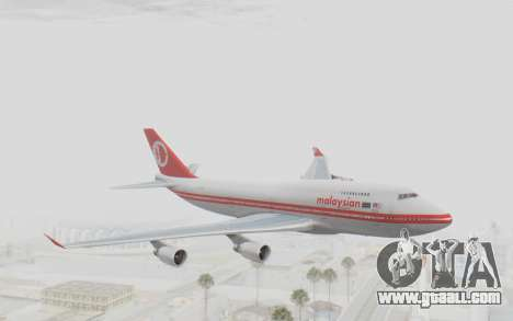 Boeing 747-200 Malaysia Airlines for GTA San Andreas back left view