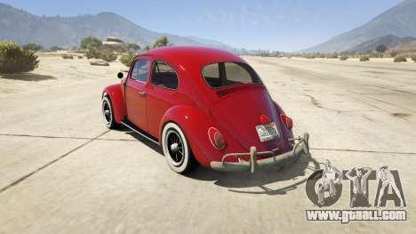 GTA 5 1963 Volkswagen Beetle 1.0.1 rear left side view