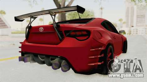 Toyota GT86 Drift Edition for GTA San Andreas back left view