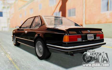 BMW M635 CSi (E24) 1984 HQLM PJ3 for GTA San Andreas left view