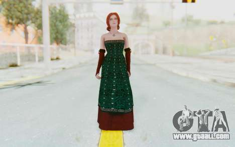 The Witcher 3 - Triss Merigold Dress for GTA San Andreas second screenshot
