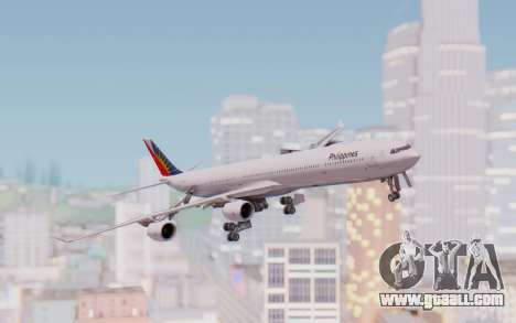 Airbus A340-600 Philippine Airlines for GTA San Andreas back left view