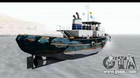 GTA 5 Buckingham Tug Boat v1 for GTA San Andreas left view