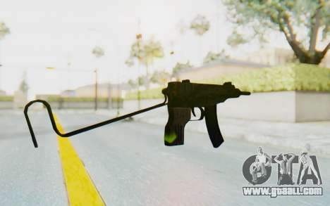 VZ-61 Skorpion Unfold Stock Tiger Stripes Camo for GTA San Andreas second screenshot