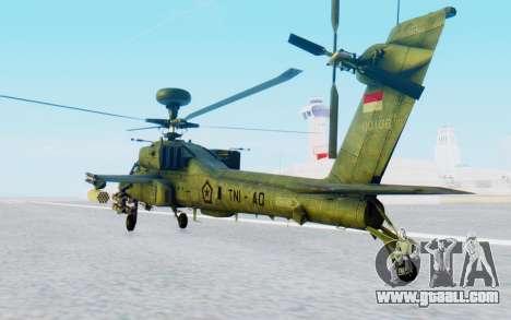 AH-64 Apache for GTA San Andreas left view