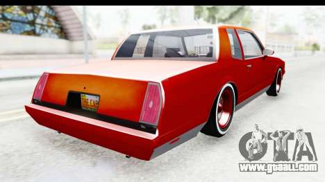 Chevrolet Monte Carlo Breaking Bad for GTA San Andreas back left view