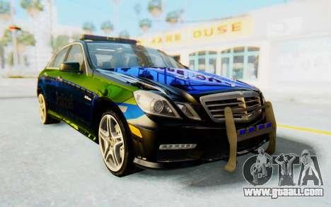 Mercedes-Benz E63 German Police Blue-Yellow for GTA San Andreas