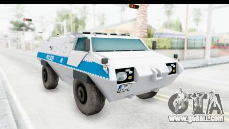 Hermelin TM170 Polizei for GTA San Andreas right view