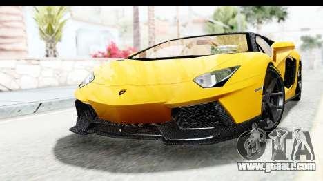 Lamborghini Aventador LP700-4 LB Walk for GTA San Andreas back left view