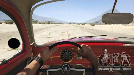 GTA 5 1963 Volkswagen Beetle 1.0.1 rear right side view
