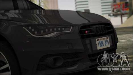 Audi S6 for GTA San Andreas back left view