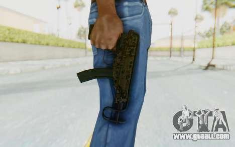 VZ-61 Skorpion Fold Stock Russian Gorka Camo for GTA San Andreas third screenshot