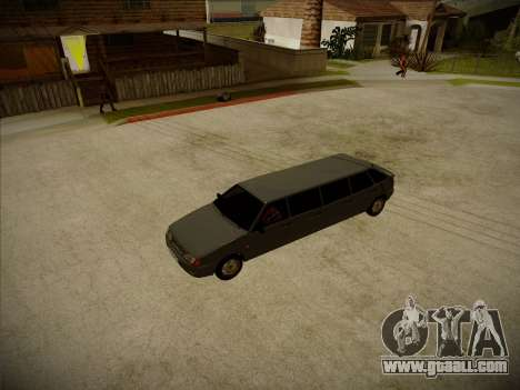 VAZ 2114 Devastadora HQ model for GTA San Andreas inner view