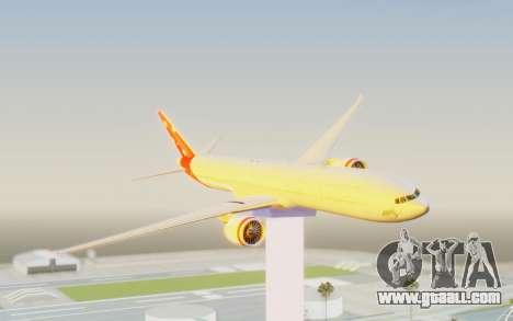Boeing 777-300ER Virgin Australia v1 for GTA San Andreas back left view