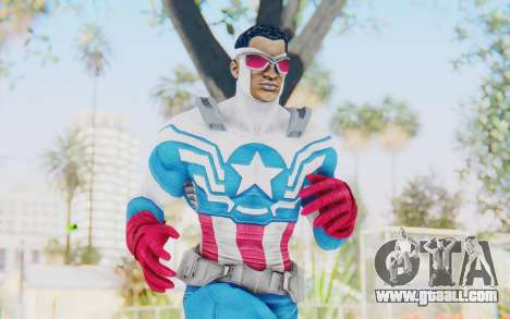 Marvel Heroes - Capitan America Sam Wilson for GTA San Andreas