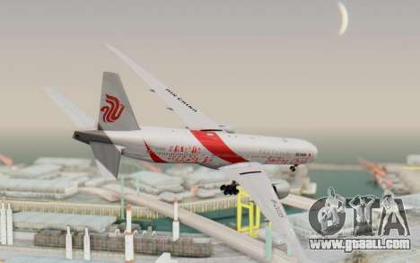 Boeing 777-300ER China Air for GTA San Andreas left view