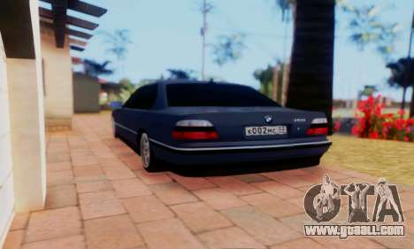 BMW 750 for GTA San Andreas left view