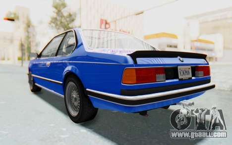 BMW M635 CSi (E24) 1984 HQLM PJ1 for GTA San Andreas back left view
