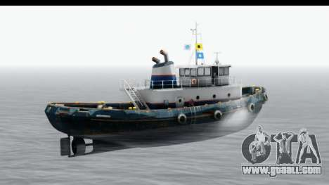 GTA 5 Buckingham Tug Boat v2 for GTA San Andreas back left view