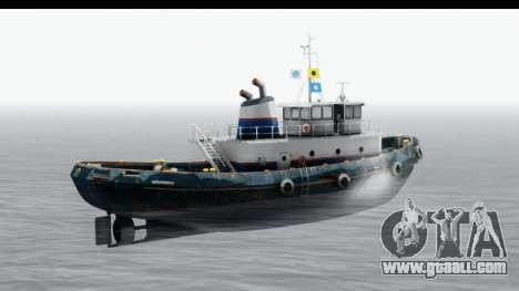 GTA 5 Buckingham Tug Boat v2 for GTA San Andreas back left view