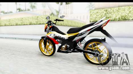 Honda 150R Sonic X IDFR for GTA San Andreas back left view