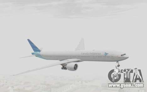 Boeing 777-300ER Garuda Indonesia for GTA San Andreas back left view