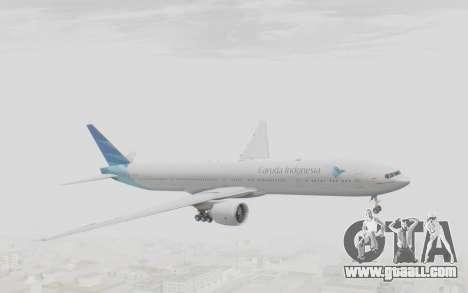 Boeing 777-300ER Garuda Indonesia for GTA San Andreas back left view
