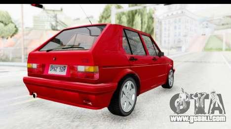 Volkswagen Golf Citi 1.8 1998 for GTA San Andreas back left view