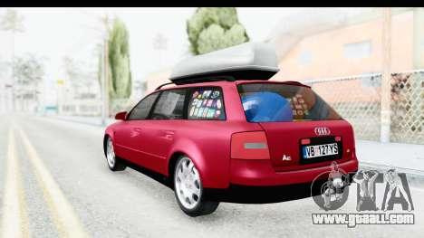 Audi A6 C5 Avant Sommerzeit for GTA San Andreas back left view