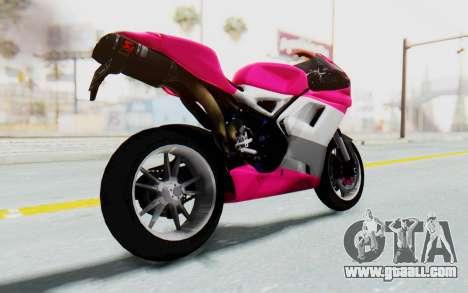 Ducati 1098R High Modification for GTA San Andreas right view