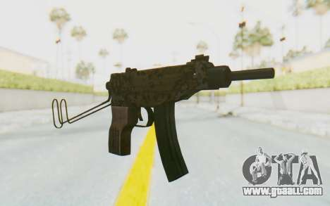 VZ-61 Skorpion Unfold Stock Russian Gorka Camo for GTA San Andreas