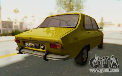 Dacia 1300 Stock for GTA San Andreas back left view