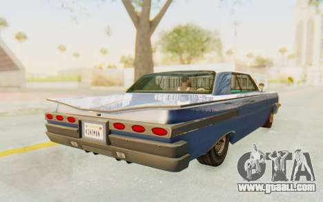 GTA 5 Declasse Voodoo Alternative v2 PJ for GTA San Andreas back left view