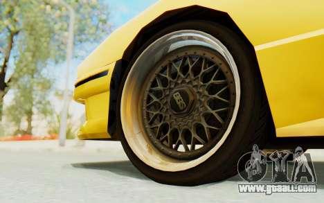 Elegy E30 for GTA San Andreas inner view