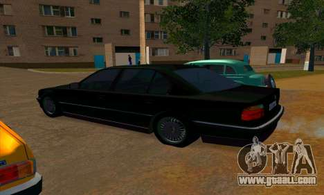 BMW 740i E38 for GTA San Andreas back left view