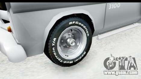 Chevrolet 3100 Diesel v1 for GTA San Andreas back view